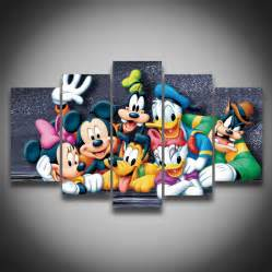 Mickey Mouse Wall Decor by Framed Printed Donald Duck Mickey Mouse Animal