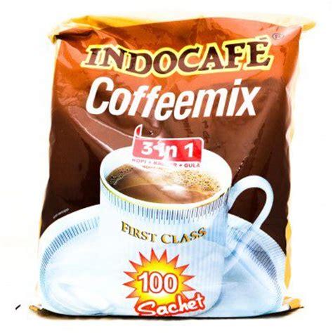 Indocafe Coffeemix indocafe coffeemix 3 in 1 instant coffee 2000 gram coffee sugar creamer 100 ct 20 gr