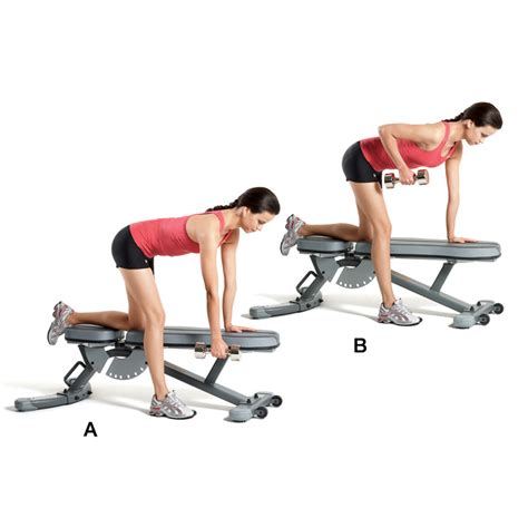 dumbbell rows without bench fitness y mujer rutina 161 al mancuernero chicas