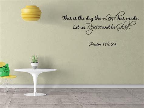 wall stickers bible verses this is the day the lord has made wall quote decal wall