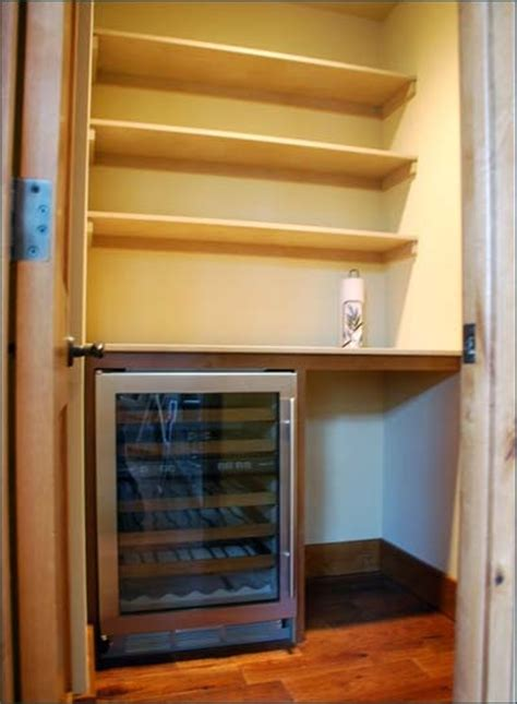 wine frig  pantry idea beverage fridge pinterest