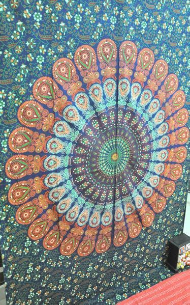 psychedelic trippy tapestry cheap dorm wall hanging twin dorm bedding