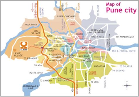 city map of pune travel india