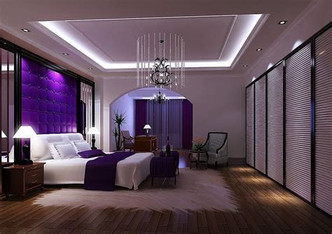 Luxurious Bedrooms Purple Luxury Bedroom 3d House Free 3d House Pictures And Wallpaper