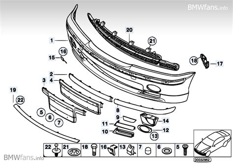 supplement 3 to part 740 m trim panel bumper front sa715 bmw 3 e46 320d m47