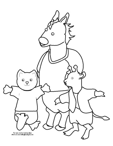 Free coloring pages of emergent reader