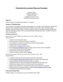 Trust Accountant Cover Letter by Exle Cover Letter Chartered Accountant Cover Letter Templates