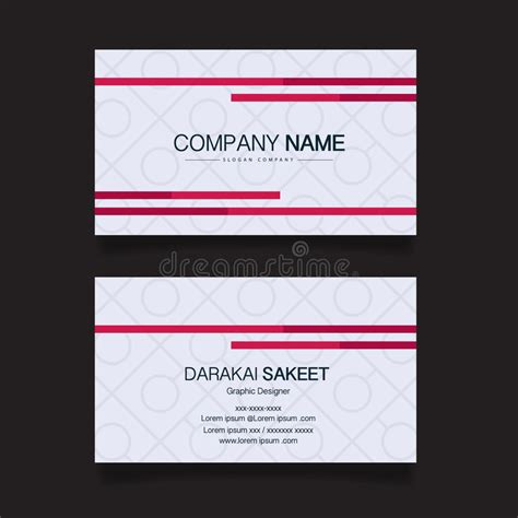 simple name card template name card modern simple business card template stock