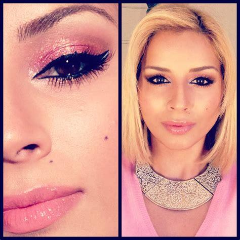 tutorial makeup glitter nye pink glitter makeup tutorial 3 riviera maya