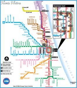 Chicago Subway Map Pdf by Chicago Subway Map Travel Map Vacations