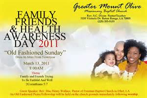 Family and friends day program