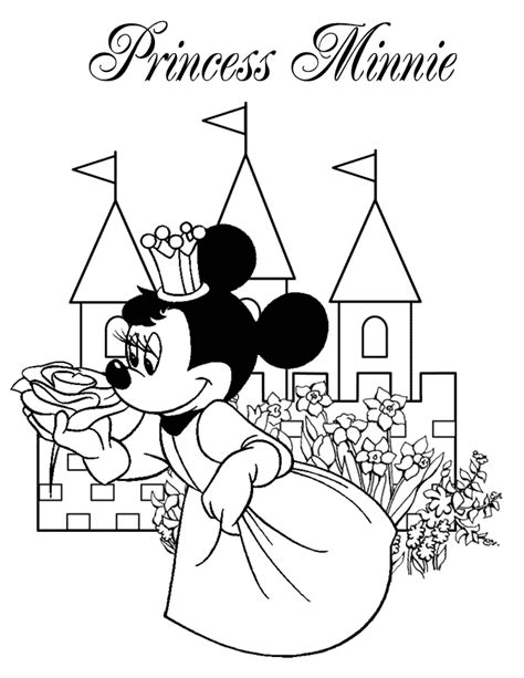 princess minnie coloring pages minnie mouse princess coloring pages coloring pages