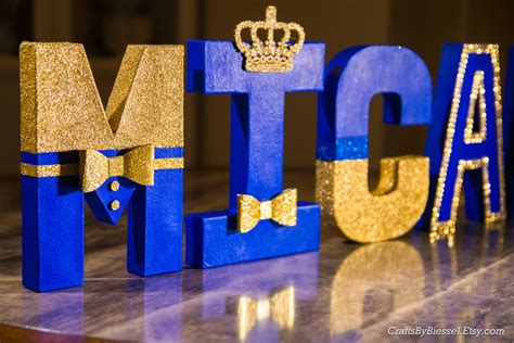 Rent Letters For Baby Shower Royal Blue And Gold Letters Photo Prop Centerpiece 8