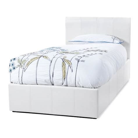 white leather single ottoman bed tuscany ottoman single bed in white faux leather cool
