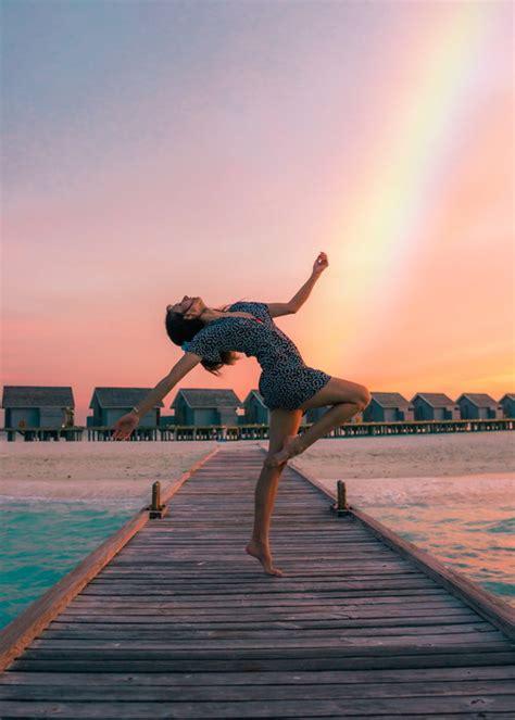 dancing woman body art photography stock photo