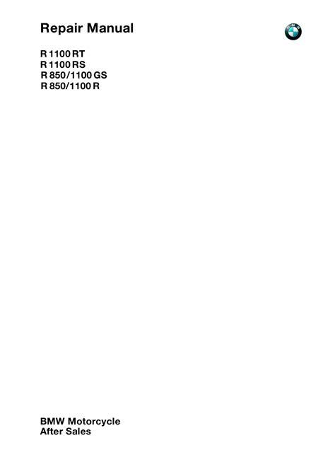 BMW R1100 RT RS GS R 2000 Repair Manual PDF Download