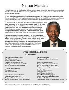 biography about nelson mandela life nelson mandela biography of nelson mandela and worksheets