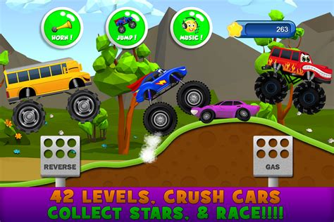 monster trucks for kids videos monster trucks game for kids 2 android apps on google play