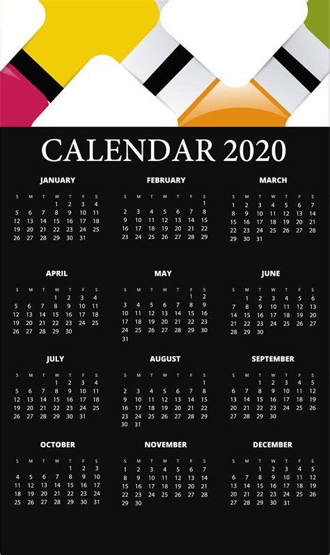 yearly calendar printable calendar