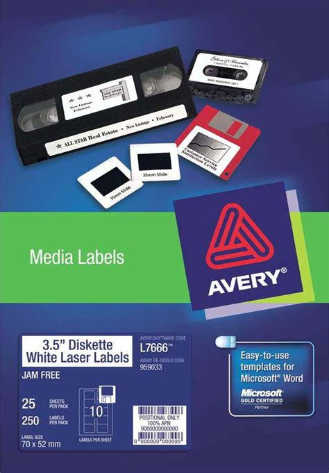 Avery Diskette Labels Template