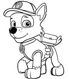 free coloring pages of paw patrol rocky