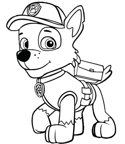 printable coloring pages paw patrol free ryder and the paw patrol coloring pages