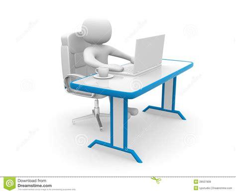 bureau d enqu黎es et d analyses les gens 3d personne 224 un bureau et 224 un ordinateur