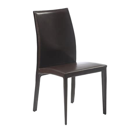 Side Chairs Dining Eurostyle Leather Dining Side Chair Brown Ebay