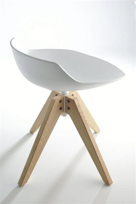 Keset Shoes 1 swivel stool on trestle base flow stool flow collection by mdf italia design jean