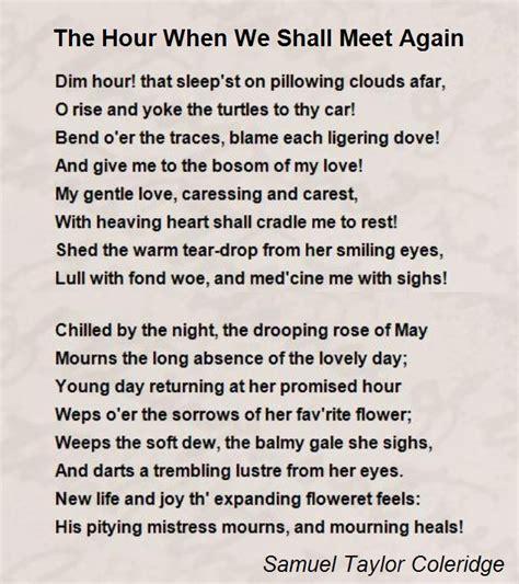 hour    meet  poem  samuel taylor coleridge poem hunter