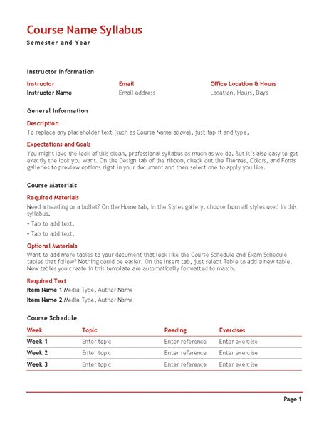 blank syllabus template s syllabus color office templates