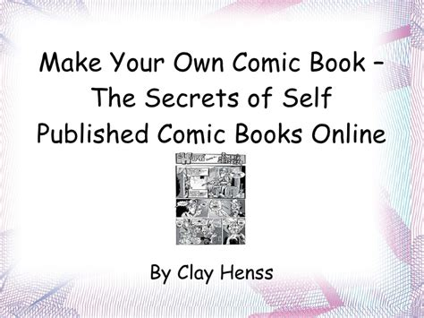 How To Make A Comic Book Out Of Paper - make your own comic book the secrets of self published