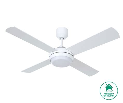 Altitude Eco 122cm Fan With Led Light In White Ceiling Ceiling Fans With Lights