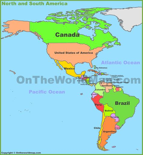world map and south america map of and south america