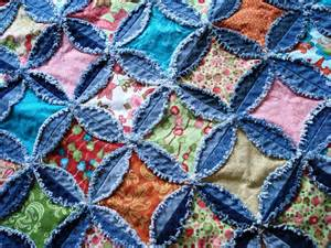 a passionate quilter finished the denim quilt