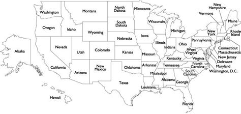 map of usa with states black and white maps of united states of america