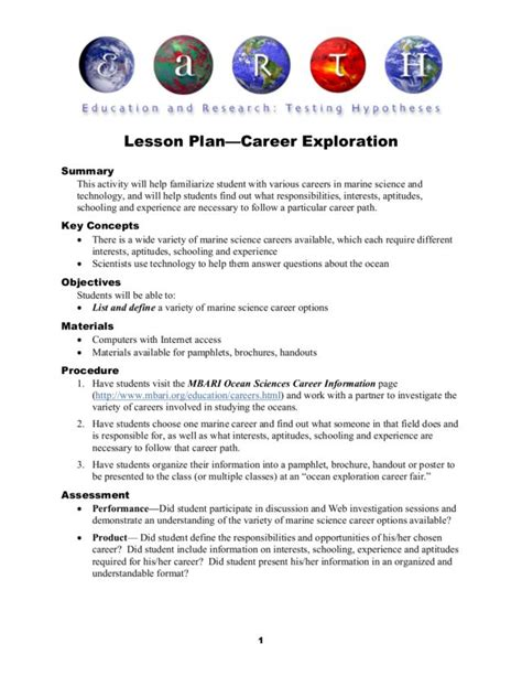 home and careers lesson plans worksheet career exploration worksheets for highschool