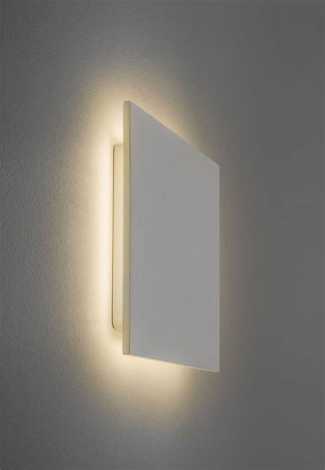 Led Wall Lights Eclipse Square 250 White Plaster Led Wall Light Astro 7248
