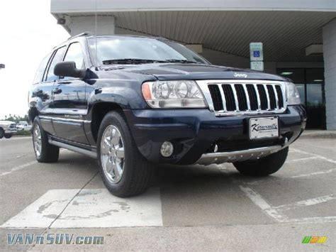blue grey jeep cherokee 2004 jeep grand cherokee overland 4x4 in midnight blue