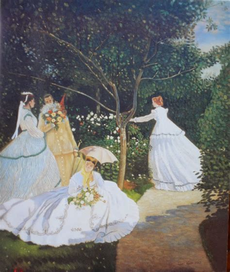 claude monet donne in giardino dipinge copie di quadri famosi