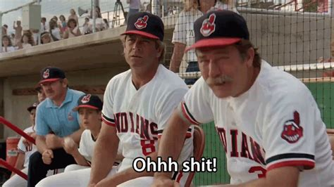 Major League Movie Meme - baseball team gif find share on giphy
