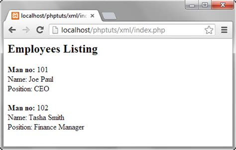 tutorial php xml php xml tutorial create parse read with exle