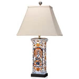 Ceramic Rectangular Vase Imari Porcelain Table Lamp Table Amp Desk Lamps Lamps