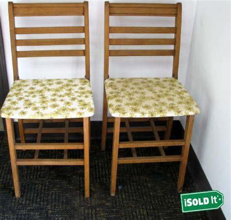 vintage wood folding chairs ebay 2 antique bridge set vintage wood folding chairs by