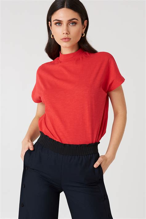 Sleeve High Neck Blouse by High Neck Cap Sleeve Top Na Kd