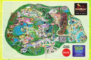 six flags great america 2010 park map