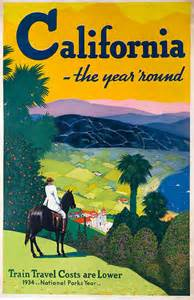 Vintage California Freemont Pages Vintage Travel Posters California