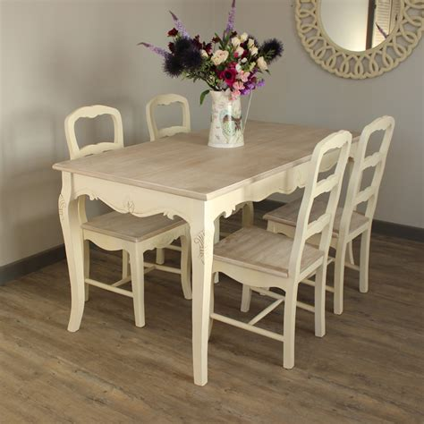 Wood Dining Room Sets country ash range cream large dining table and 4 chairs