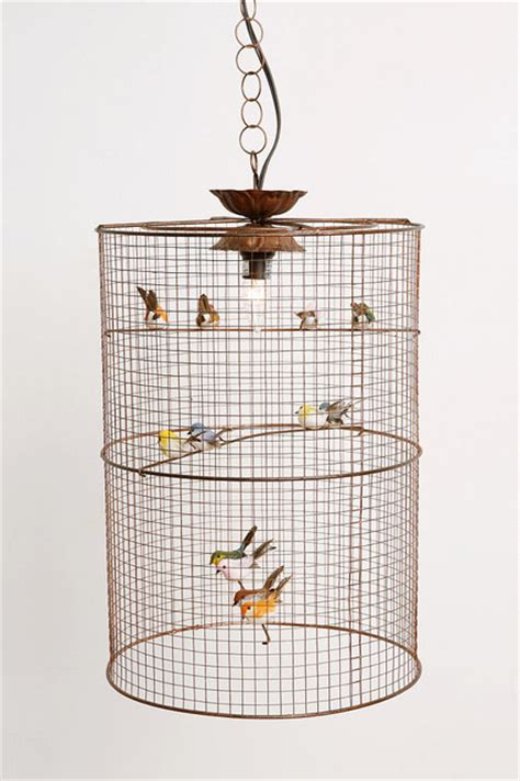 birdcage hanging l eclectic pendant lighting by