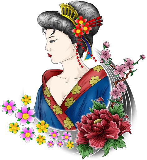 traditional geisha tattoo flash geisha flash tattoo art by vazismail on deviantart
